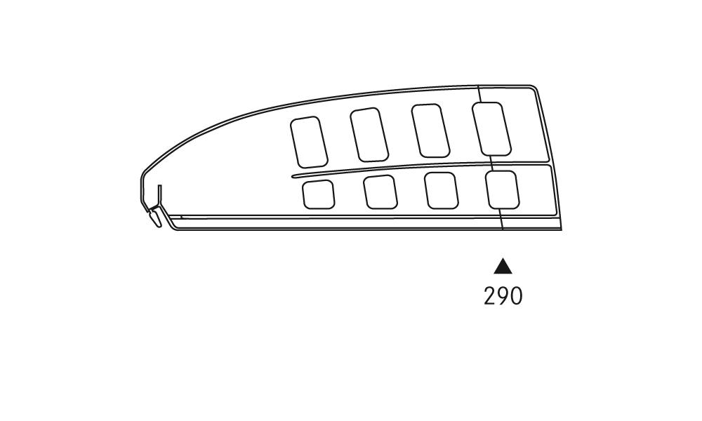 OS 1 Warenteiler H 120 × L 340 mm, glasklar