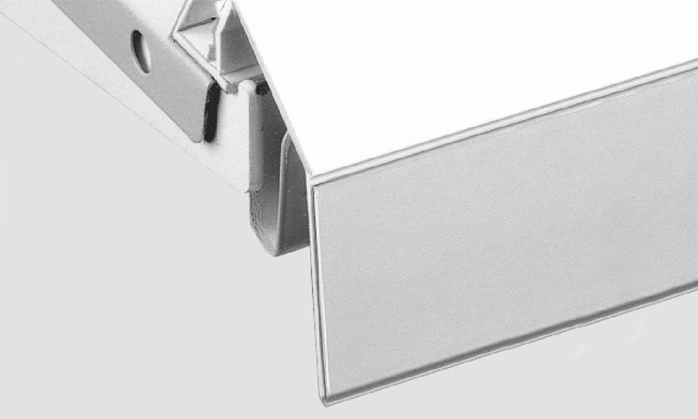 OS 1 Schiene 121 mit Klebe- oder Magnetband weiß