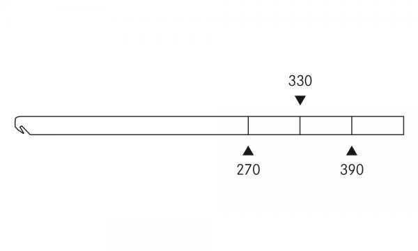 OS 1 Warenteiler H 25 × L 450 mm, glasklar