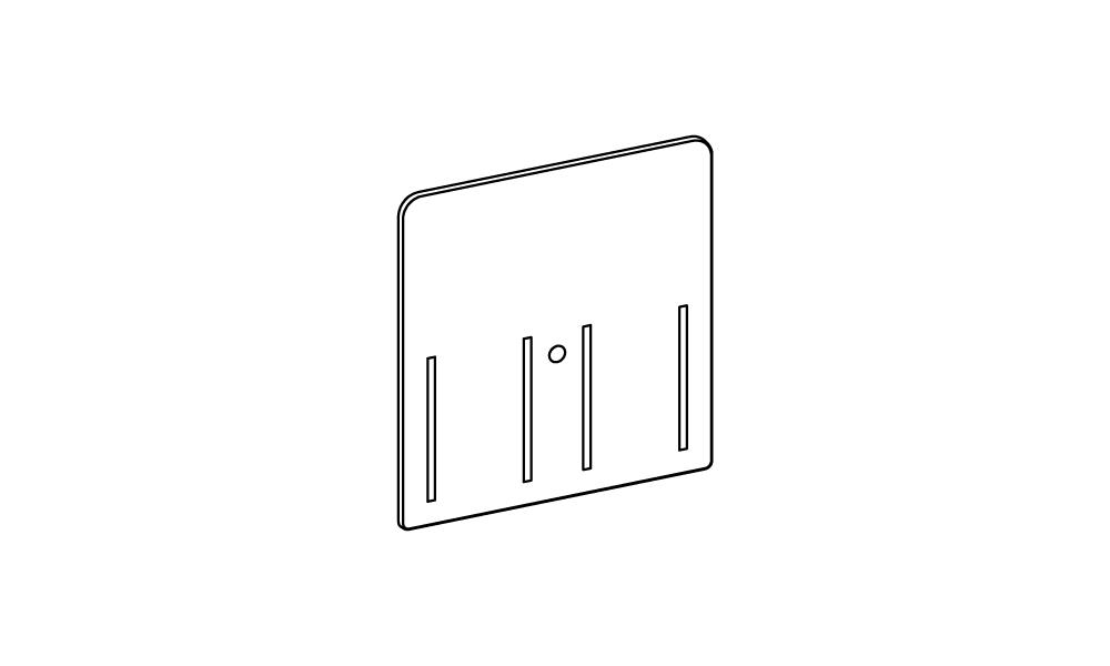 OS Rückwandvergrößerung, 2-fach für Warenvorschubkasten groß, grau