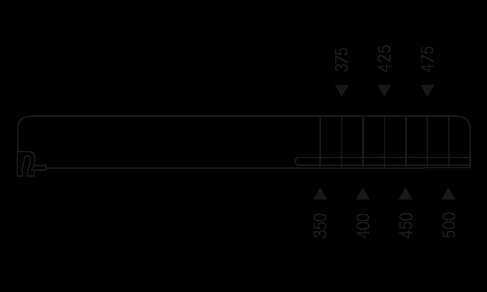 OS 2 Warenteiler H 60 mm x L 526 mm