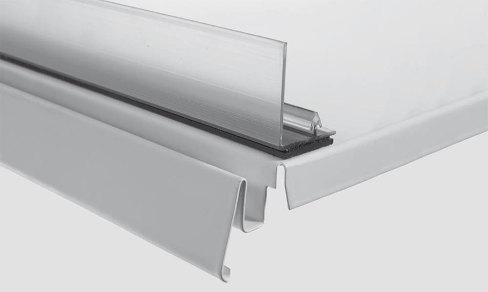 OS 2 Winkelleiste L mit Klebe- oder Magnetband, transparent