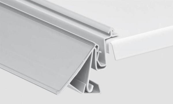 OS 2 Einsteckleiste, zweiteilig, lichtgrau