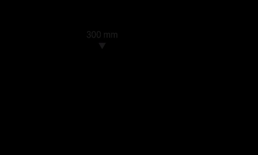 System 400, L 400 mm, H 20 mm, 1 Sollbruchstelle auf 300 mm