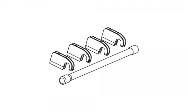 OS Reling mit zwei Abdeckkappen und 4 Relingclips, glasklar