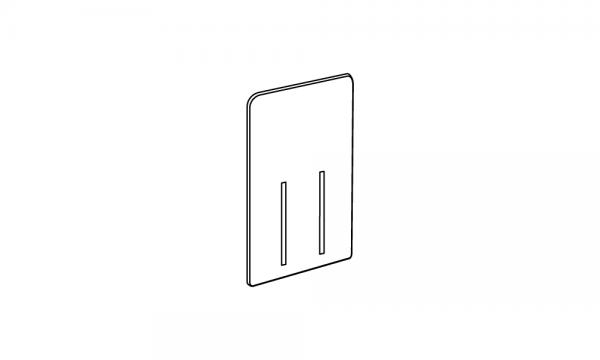 OS Rückwandvergrößerung, 1-fach für Warenvorschubkasten groß, grau