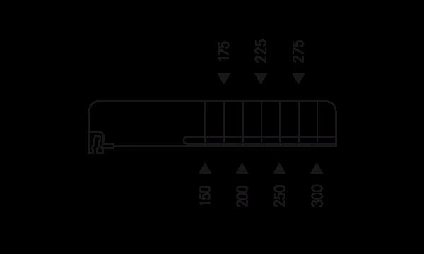 OS 2 Warenteiler H 60 mm x L 326 mm