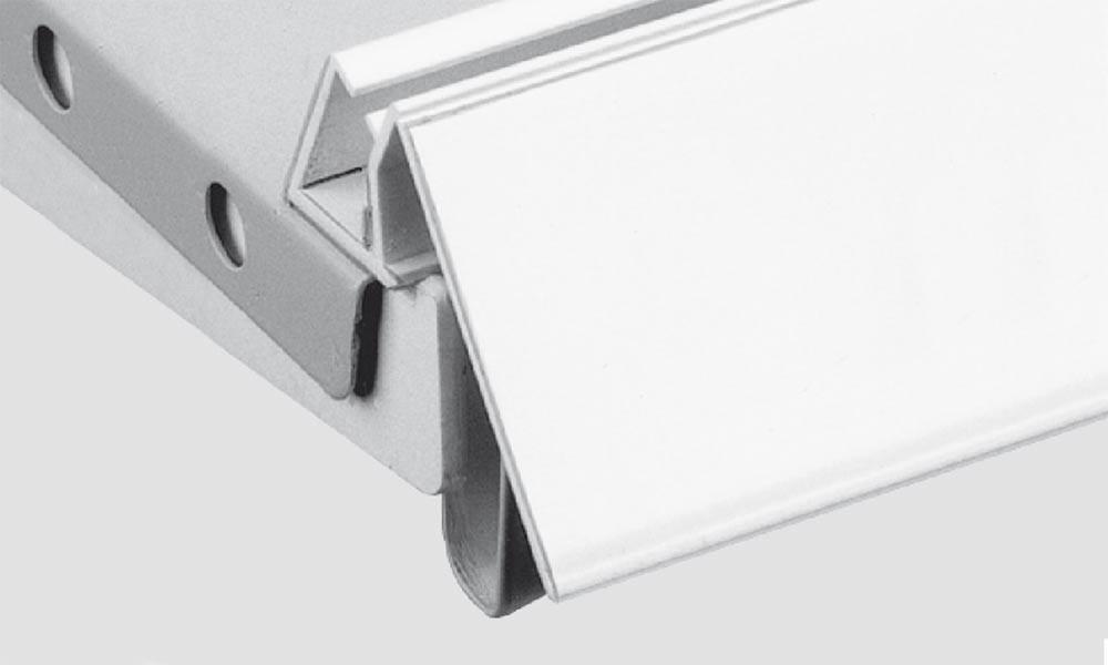 OS 1 Schiene 101 mit Klebe- oder Magnetband weiß