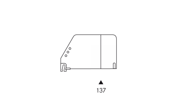 OS 2 Warenteiler H 120 mm × L 192 mm, glasklar