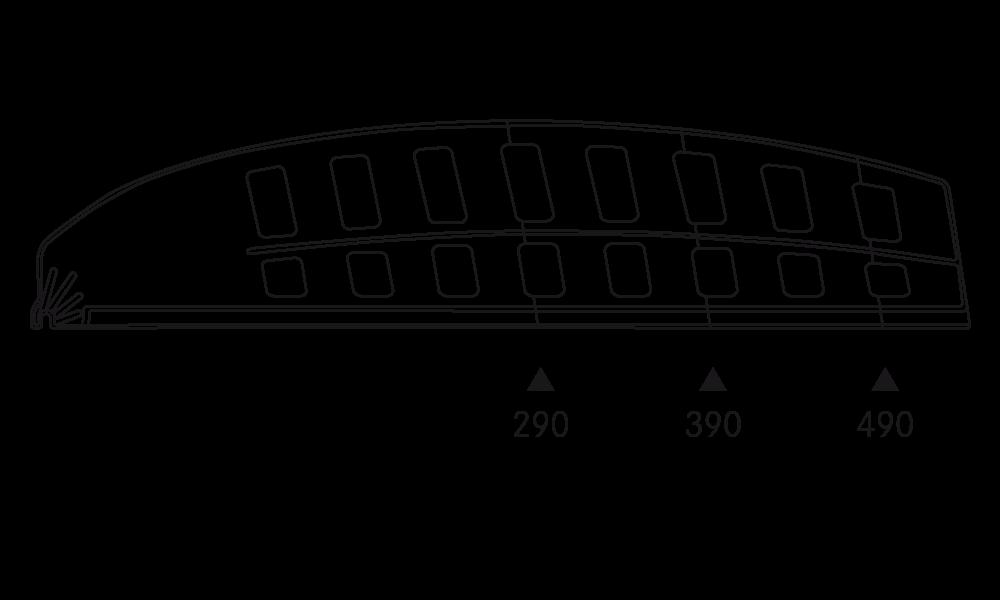 OS 2 Warenteiler H 120 mm × L 540 mm, glasklar