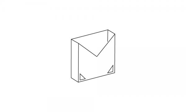 OS Prospektbox mit Klebepads DIN A6 weiß