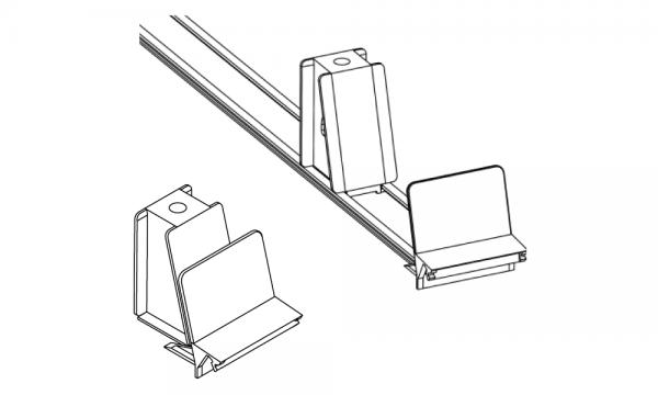 OS 1 Warenvorschub-System, schräger Frontanker, H 60 mm × B 60 mm, grau