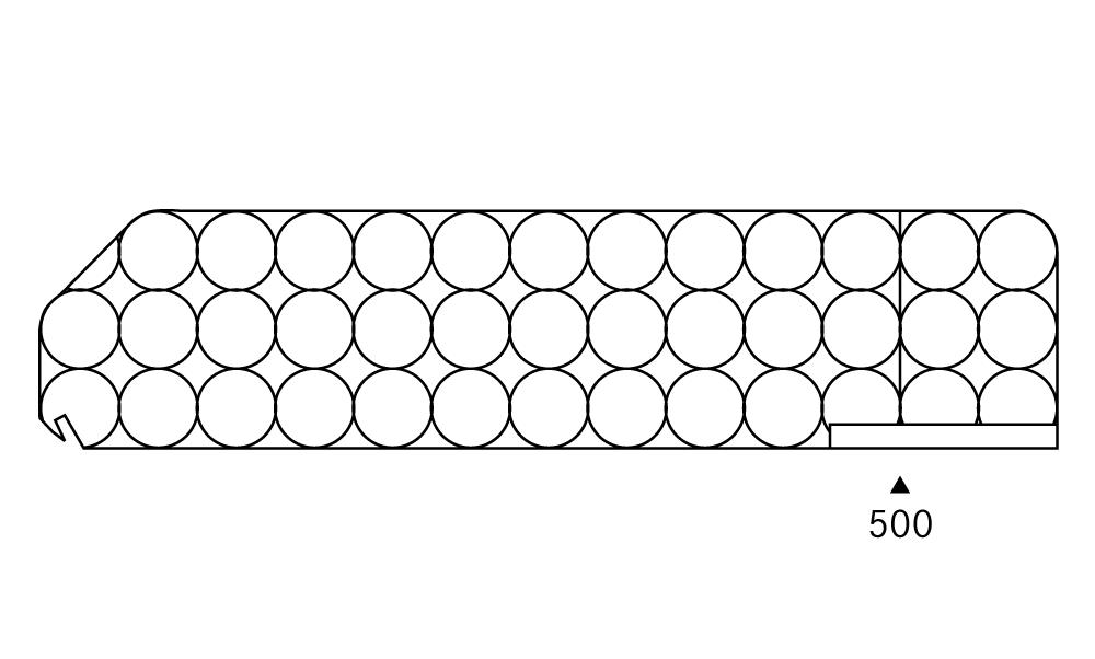 OS 1 Warenteiler H 140 × L 600 mm, glasklar