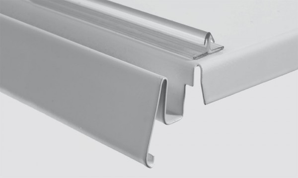 OS 2 Leiste mit Klebe- oder Magnetband, transparent