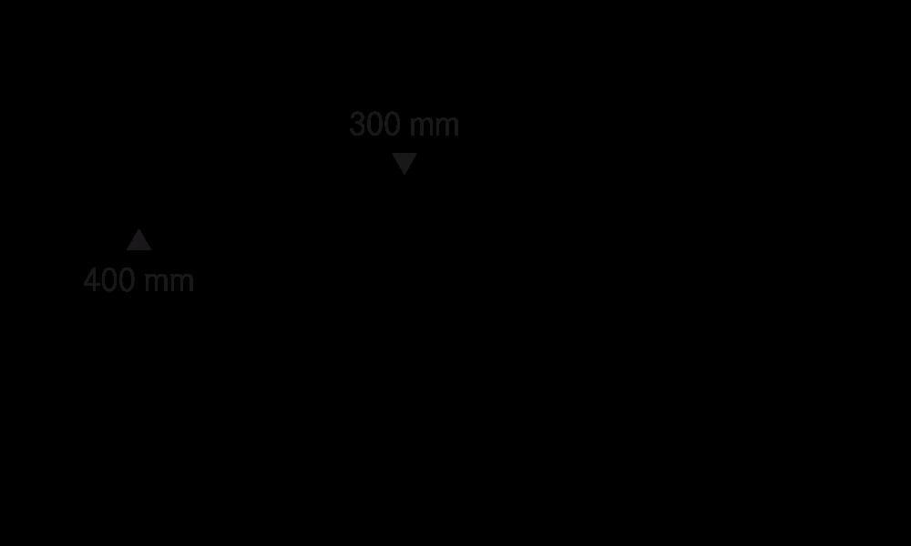 System 500, L 500 mm, H 20 mm, 2 Sollbruchstellen auf 300 mm und 400 mm