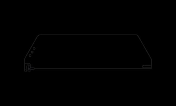 OS 2 Warenteiler H 120 mm x L 445 mm