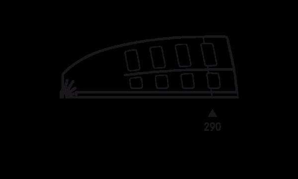 OS 2 Warenteiler H 120 mm × L 340 mm, glasklar