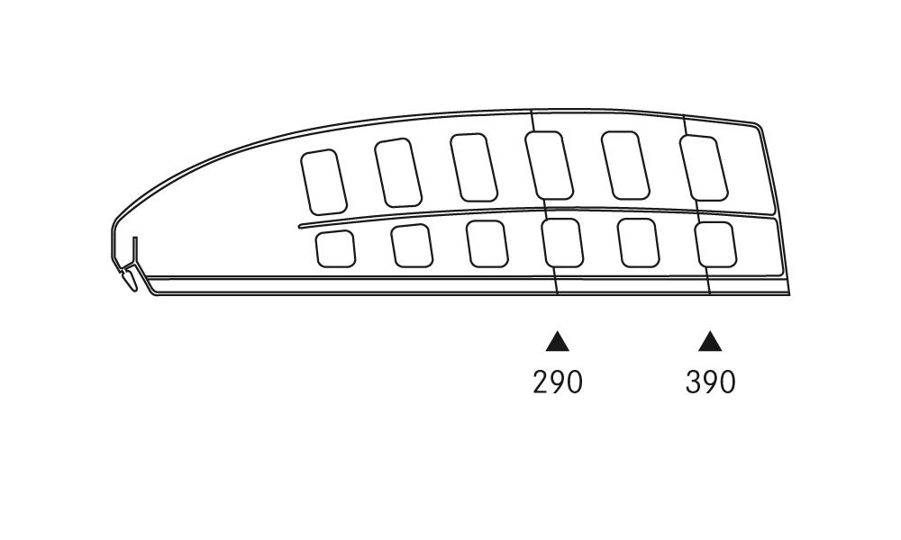 OS 1 Warenteiler H 120 × L 440 mm, glasklar