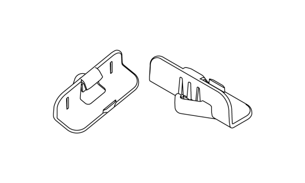 OS 1 Befestigungsclip 1 für vertikale Streben