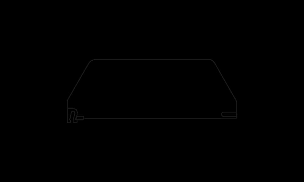 OS 2 Warenteiler H 120 mm x L 345 mm