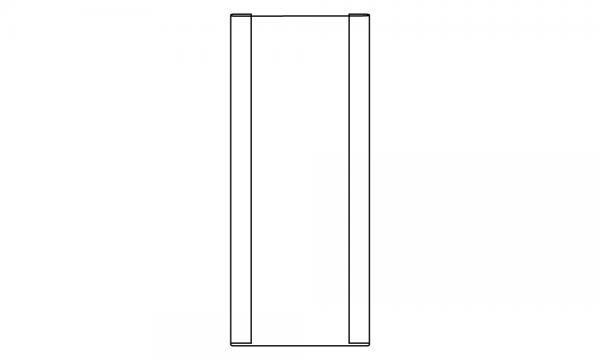 OS Rückwandaufsatz für Rückwandvergrößerung, glasklar