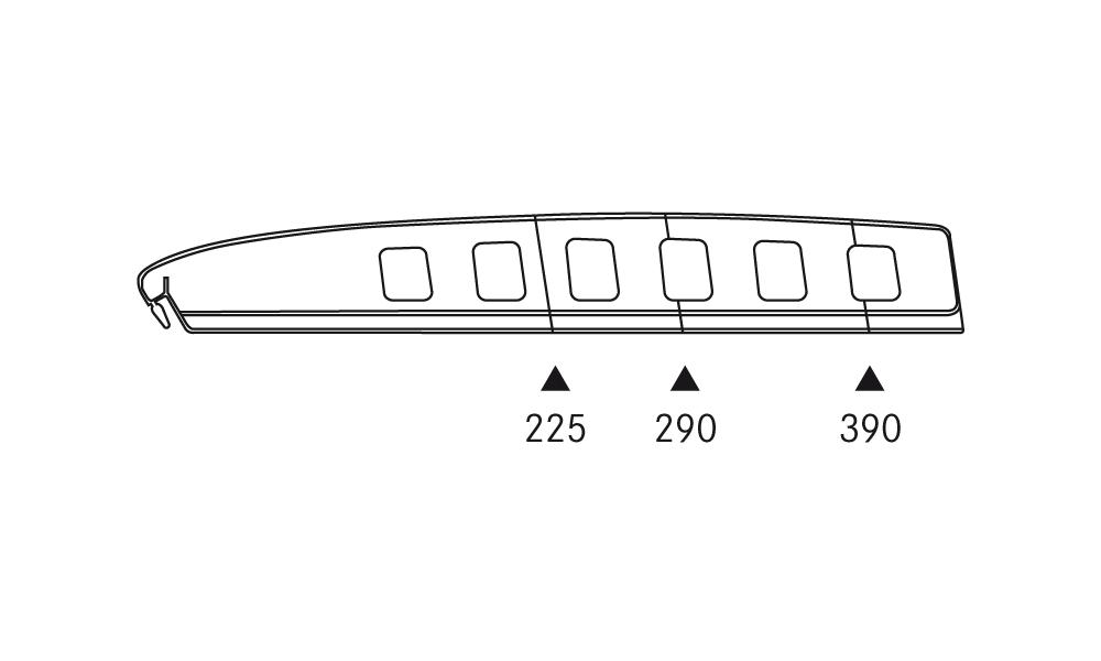 OS 1 Warenteiler H 65 × L 440 mm, glasklar