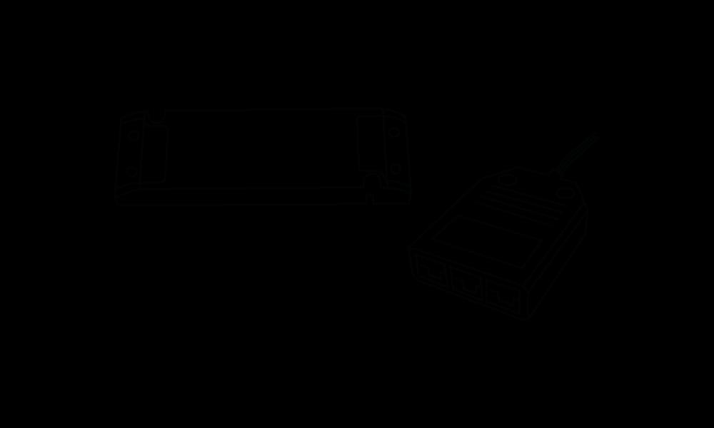 LED-Netzteile 24 V, 30 Watt mit 2.000 mm Leitung und Stecker LED-3fach-Verteiler