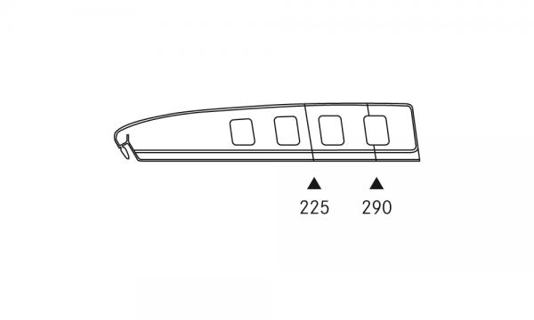 OS 1 Warenteiler H 65 × L 340 mm, glasklar