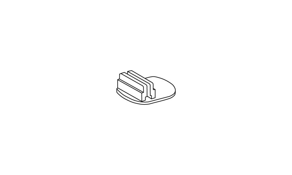 OS Arretierungsfuß mit Klebepad, glasklar