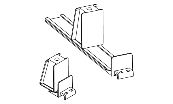 OS 2 Warenvorschub-System, Frontanker gerade, H 40 × B 35 mm, grau