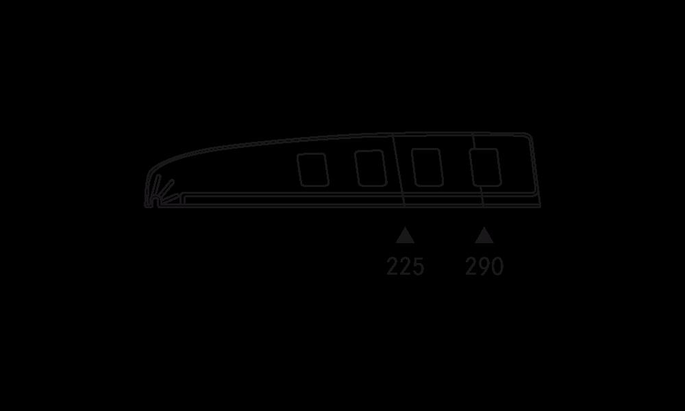 OS 2 Warenteiler H 65 mm × L 340 mm, glasklar